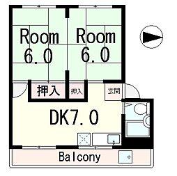 村田ビル[5階]の間取り