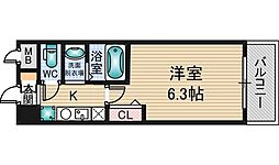 エムロード新大阪[2階]の間取り