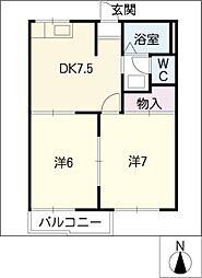 信積ハウス[1階]の間取り