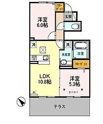 埼玉県三郷市戸ケ崎1丁目の賃貸アパートの間取り