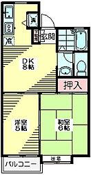 東京都杉並区善福寺2丁目の賃貸アパートの間取り