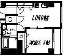 リックリグ塚本[201号室]の間取り