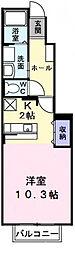 東京都西多摩郡瑞穂町大字石畑の賃貸アパートの間取り