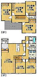 [一戸建] 茨城県つくば市桜1丁目 の賃貸【/】の間取り