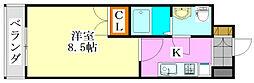 ジュメル京成船橋[6階]の間取り