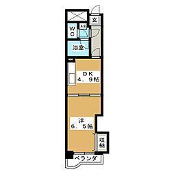 スカイコート松原[2階]の間取り