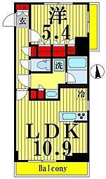 京成押上線 八広駅 徒歩9分の賃貸マンション 6階1LDKの間取り