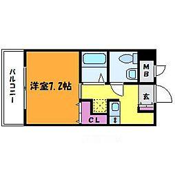 WOB MIKUNI(ウォブミクニ)[6階]の間取り