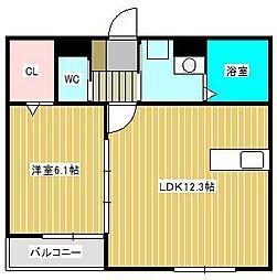 (仮)新松戸北Hハイツ[2階]の間取り
