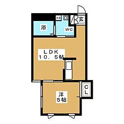 ブランノワール札幌駅前[2階]の間取り