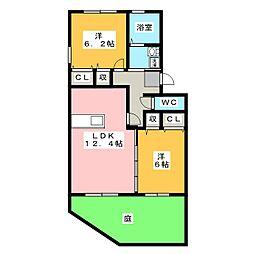 Villa Comfort[3階]の間取り