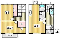 [タウンハウス] 東京都練馬区南大泉3丁目 の賃貸【東京都 / 練馬区】の間取り