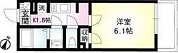 コンフォート桜木[204号室号室]の間取り