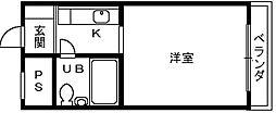 大阪府高石市加茂1丁目の賃貸マンションの間取り