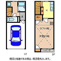 ハイクオリティ三輪B棟[2階]の間取り