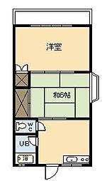 第6メゾン大栄[201号室]の間取り