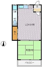 兵庫県神戸市灘区城の下通2丁目の賃貸アパートの間取り