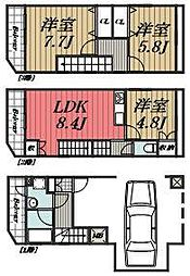 [タウンハウス] 千葉県千葉市若葉区若松町 の賃貸【/】の間取り