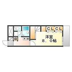 井原鉄道 井原駅 徒歩6分の賃貸アパート 1階1Kの間取り