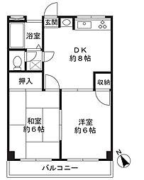 第1ゴージャスライフマンション[302号室]の間取り