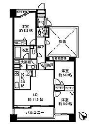 シーアイマンション池上 bt[305kk号室]の間取り