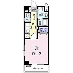 TOYO サンハウス 3階1Kの間取り