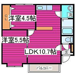 北海道札幌市東区北四十一条東7丁目の賃貸マンションの間取り