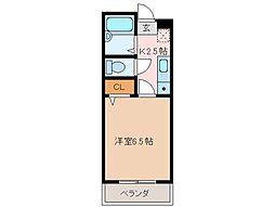 三重県松阪市京町一区の賃貸マンションの間取り