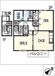 栄華セジュール[2階]の間取り