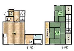 上野アパート[102号室]の間取り