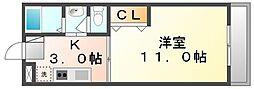香川県高松市昭和町1丁目の賃貸マンションの間取り