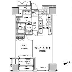 JR山手線 池袋駅 徒歩2分の賃貸マンション 12階1LDKの間取り