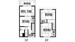 [テラスハウス] 兵庫県伊丹市荻野2丁目 の賃貸【/】の間取り