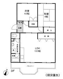 桜台ハイム[3階]の間取り