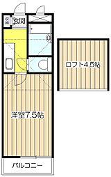 クレセントハイツ21[1階]の間取り
