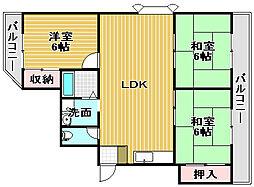 インテグラフェニックスパート1[205号室]の間取り