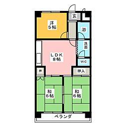 ジュネス21[3階]の間取り