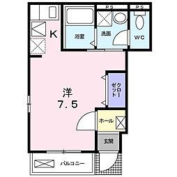 東京都日野市日野本町6丁目の賃貸アパートの間取り