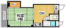サンハイツエム[1階]の間取り