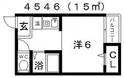 セラ天王寺A[3階]の間取り