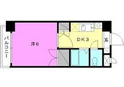 ロイヤルハイツ清水町[607 号室号室]の間取り