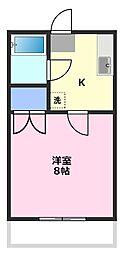 サンコーポ富士見[3階]の間取り