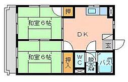 シャトレ緑ヶ丘[4階]の間取り