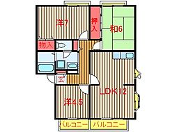 サンビレッジ船橋A〜J棟[C202号室]の間取り