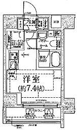 クラリッサ川崎グランデ[3階]の間取り