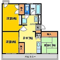 ピースシーサイドKUROSAKI[102号室]の間取り