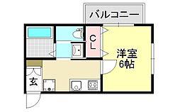 プチベルン平野[1O5号室号室]の間取り