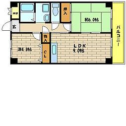 エトワール西神戸[1階]の間取り