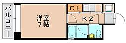 エステートモア箱崎2[2階]の間取り