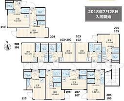 ロンジェスマン三宿(Wi-Fi無料・仲介手数料0円)[108号室号室]の間取り